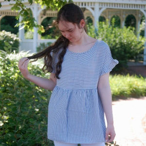 Blue and White Striped Top Hailey & Co